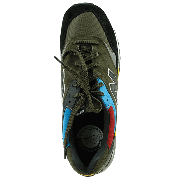 mueble lavabo hazlo plano  New Balance 'M557UCT' men's sneakers in black multi Made in England