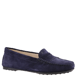 3ffa1e1d78a Tod's women's moccasins in dark blue leather with rubber sole